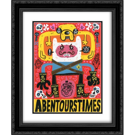 Las Aventuras de Pen 2x Matted 20x24 Black Ornate Framed Art Print by Gutierrez, Jorge R. ()