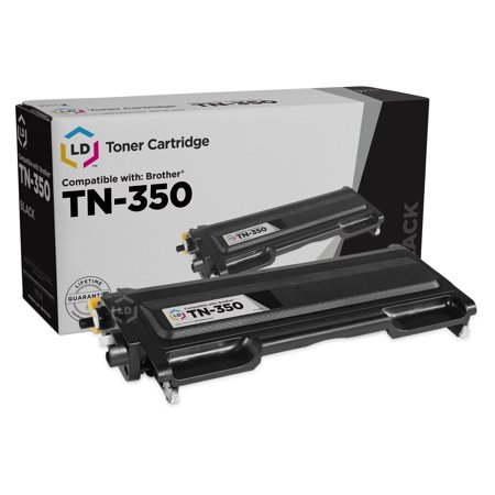 LD Compatible Replacement for Brother TN350 Black Toner Cartridge for use in DCP-7010, DCP-7020, DCP-7025, HL-2030, HL-2040, HL-2070, Intellifax 2820, 2850, 2920 & MFC-7220, MFC-7420, MFC-7820D This is a Compatible Brother TN350 Black Laser Toner Cartridge guaranteed to perform with Brother Laser Printers. It replaces the original Brother TN350 Laser Toner Cartridge. The compatible replacement TN350 Laser Toner Cartridges and supplies (also known as generic) are specially engineered to meet the highest standards of quality, reliability and exceptional yields that meet or exceed OEM (Original Equipment Manufacturer) standards for the TN350 and offer high-quality printing results. Manufactured brand new, containing up to  new components, they are an economical alternative to expensive OEM TN350 Brother Laser Toner Cartridges and supplies, and offer big savings over brand-name TN350 Laser Toner Cartridges and supplies. The use of compatible replacement Laser Toner Cartridges and supplies does not void Printer Warranty. Our Compatible TN350 Laser Toner Cartridge is a replacement for OEM Brother TN350 Toner Cartridge. For use in the following Brother printers: DCP 7020, HL 2030, HL 2040, HL 2070N, Intellifax 2820, 2920, MFC 7220, MFC 7225N, MFC 7420, and MFC 7820N. We are the exclusive reseller of LD Products brand of high quality printing supplies on Walmart. This ld compatible replacement for brother tn350 black toner cartridge for use in dcp-7010, dcp-7020, dcp-7025, hl-2030, hl-2040, hl-2070, intellifax 2820, 2850, 2920 & mfc-7220, mfc-7420, mfc-7820d is a compatible cartridge item that always ships fast and accurately and comes with a . High Quality. d. Same Capacity as Original.