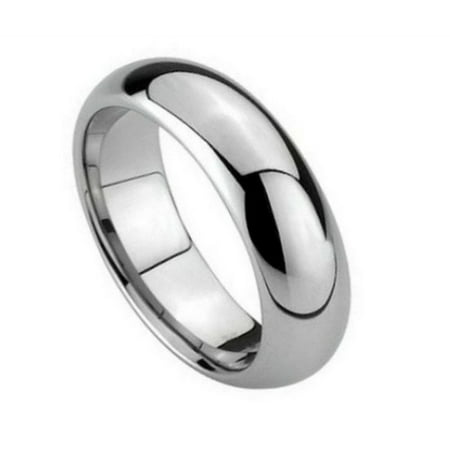6mm Tungsten Carbide classic Comfort Fit high polish Wedding Band Ring For Men or Ladies Classic Comfort Fit Wedding Band