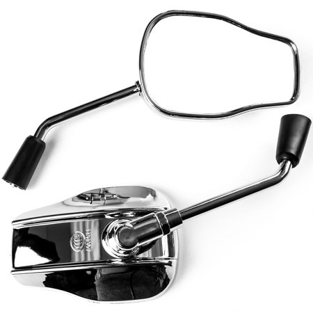 Krator Universal Chrome Motorcycle Mirrors for Yamaha V-Star Vstar 950 1100 1300 Classic Stryker