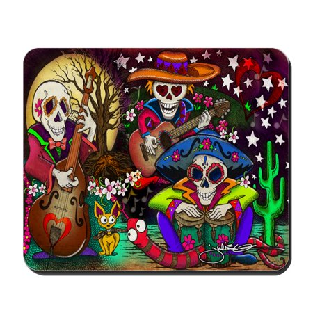 CafePress - Day Of The Dead Music Art By Julie Oakes - Non-slip Rubber Mousepad, Gaming Mouse - Dead Mouse Head For Sale