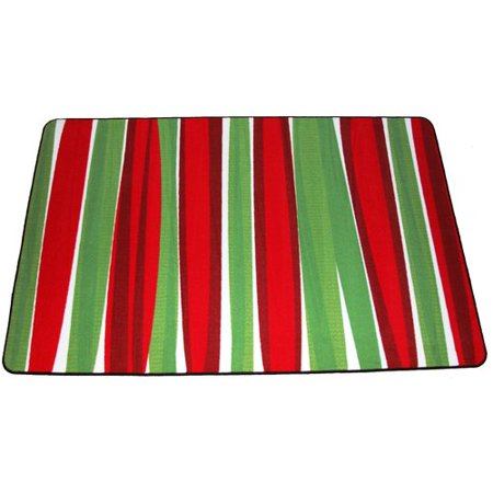 The Holiday Aisle Illings Merry Christmas Redgreen Area Rug