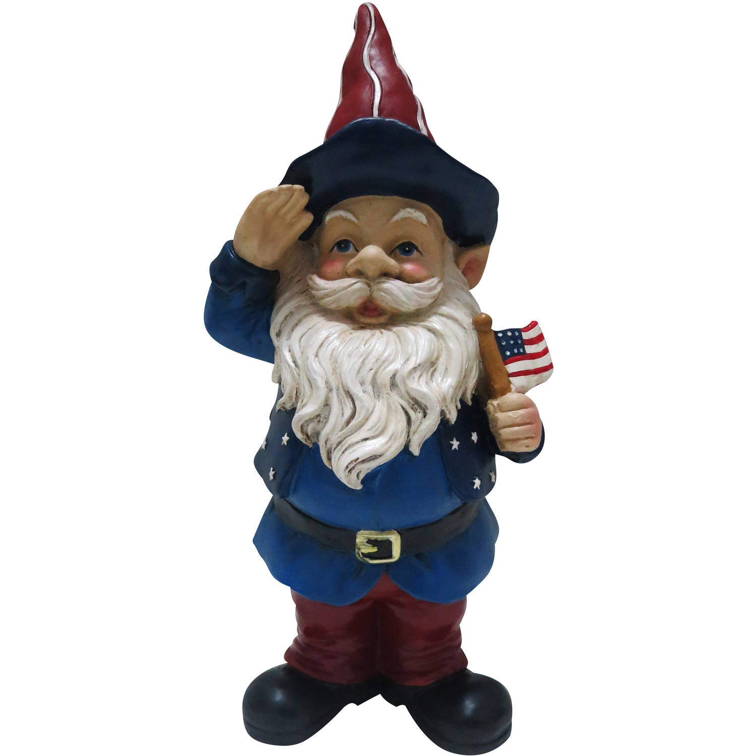 """22"""" Americana Gnome with Flag, Large"""