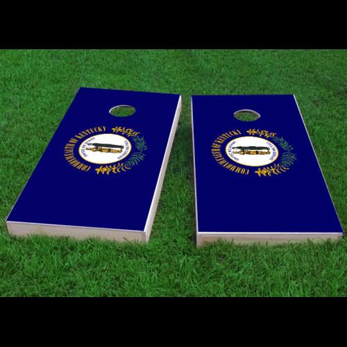 Custom Cornhole Boards Kentucky State Flag Cornhole Game (Set of 2) by Custom Cornhole Boards