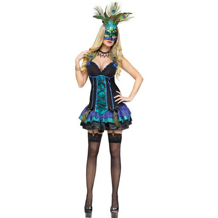 Midnight Peacock Adult Halloween Costume](Seven Til Midnight Halloween Costumes)