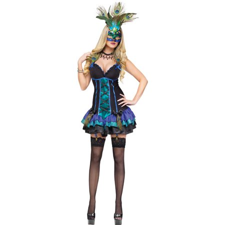Midnight Peacock Adult Halloween Costume - Halloween Peacock
