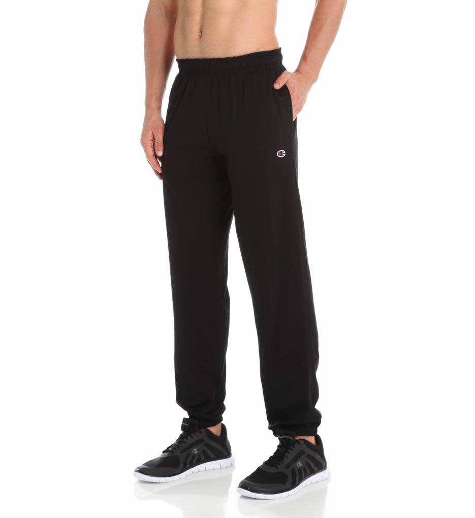 4973a30da3e5 Champion - P7310 Mens Closed Bottom Jersey Pants, Black - Extra ...