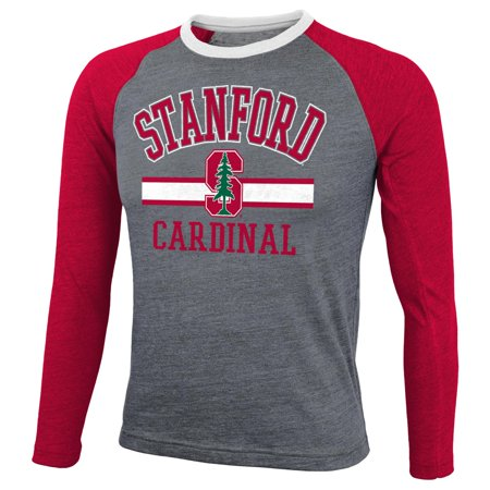 Stanford Cardinal Ncaa Cover 2 Long Sleeve Raglan Tri