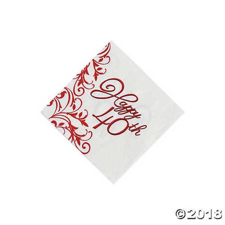 40th Anniversary Beverage - 40th Napkins