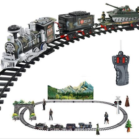 New Remote Control Electric Steam Smoke RC Train Carriage Set Rechargeable Kid Toy Train Sound Christmas Gift - Train Whistle Sounds