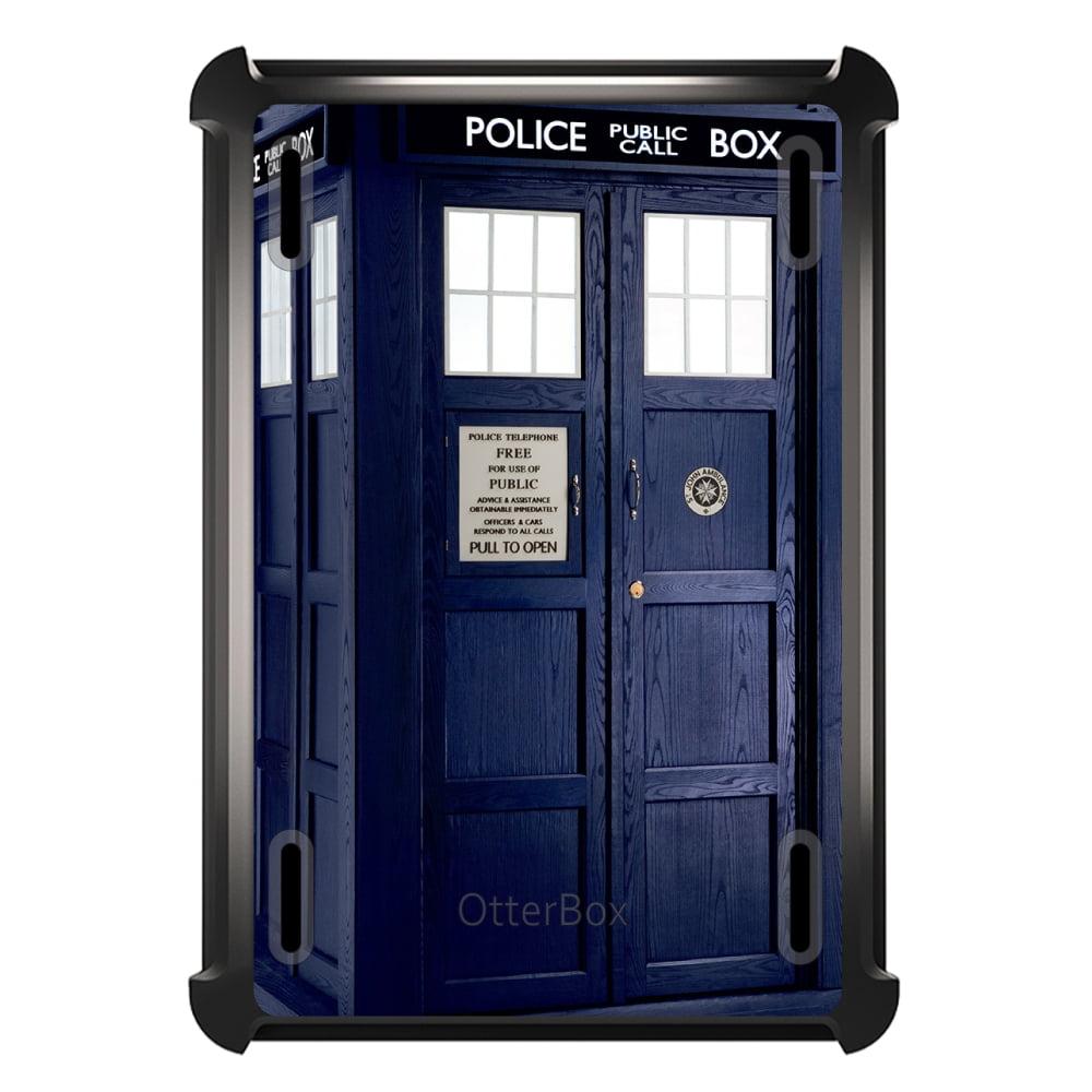 CUSTOM Black OtterBox Defender Series Case for Apple iPad Air 2 (2014 Model) - TARDIS Police Call Box