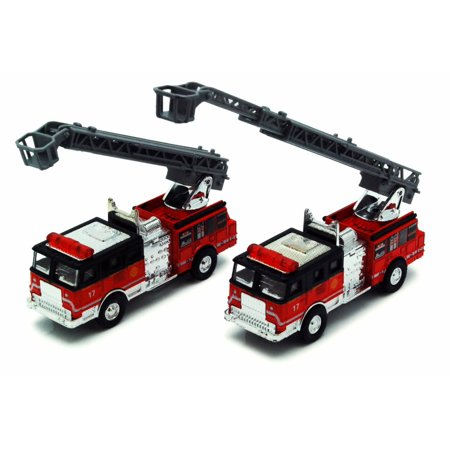 Chicago Fire Engine, Red & Black - Showcasts 9921CG - 4.75 Inch Scale Diecast Model Replica (Brand New, but NOT IN BOX)