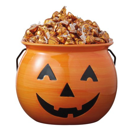 DII Ceramic Jack O Lantern Halloween Candy Bowl For Treat or Tricking, Party Decoartion, Table Décor , 8 x 8 x - Jack O Lantern Halloween Story