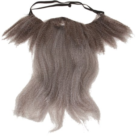 Adults Mens Grey Beard Facial Hair Costume (Halloween Facial Hair)