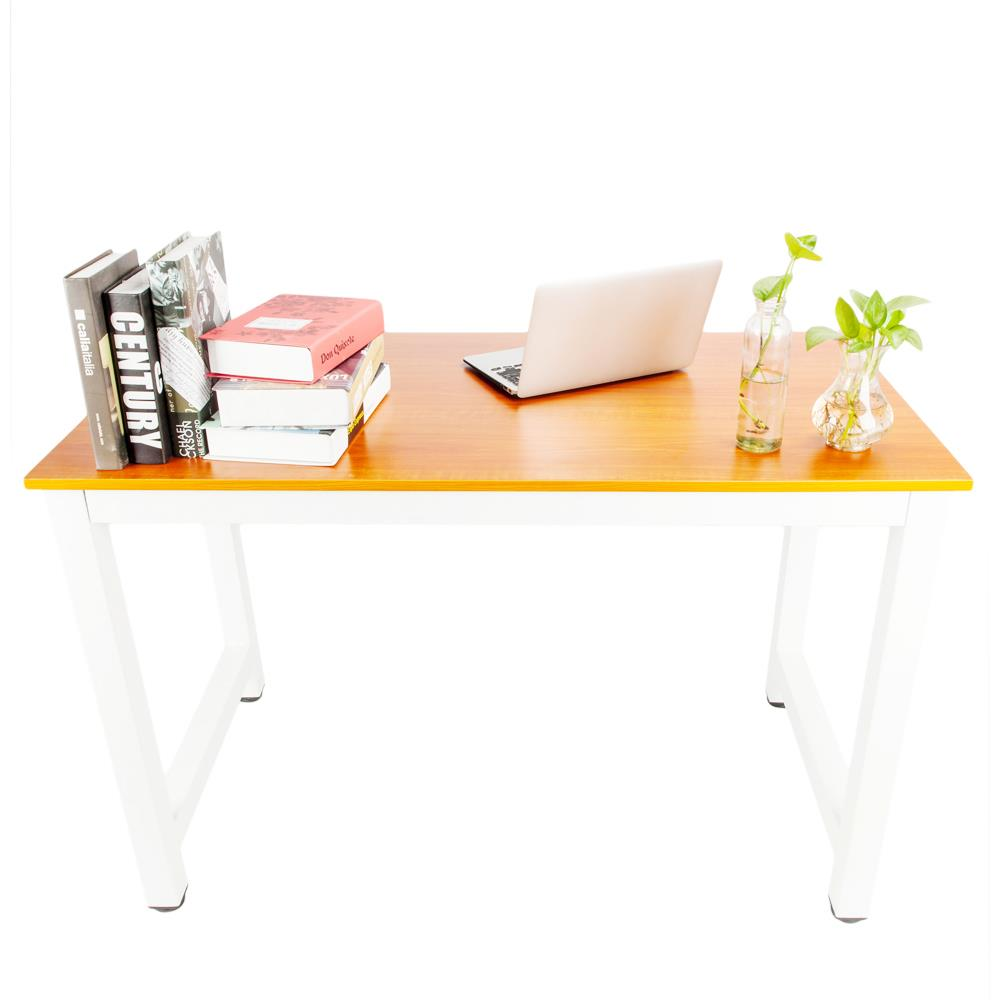 65b38bed335de Ktaxon Wood Computer Desk PC Laptop Table Workstation Study Home Office  Furniture,Brown - Walmart.com