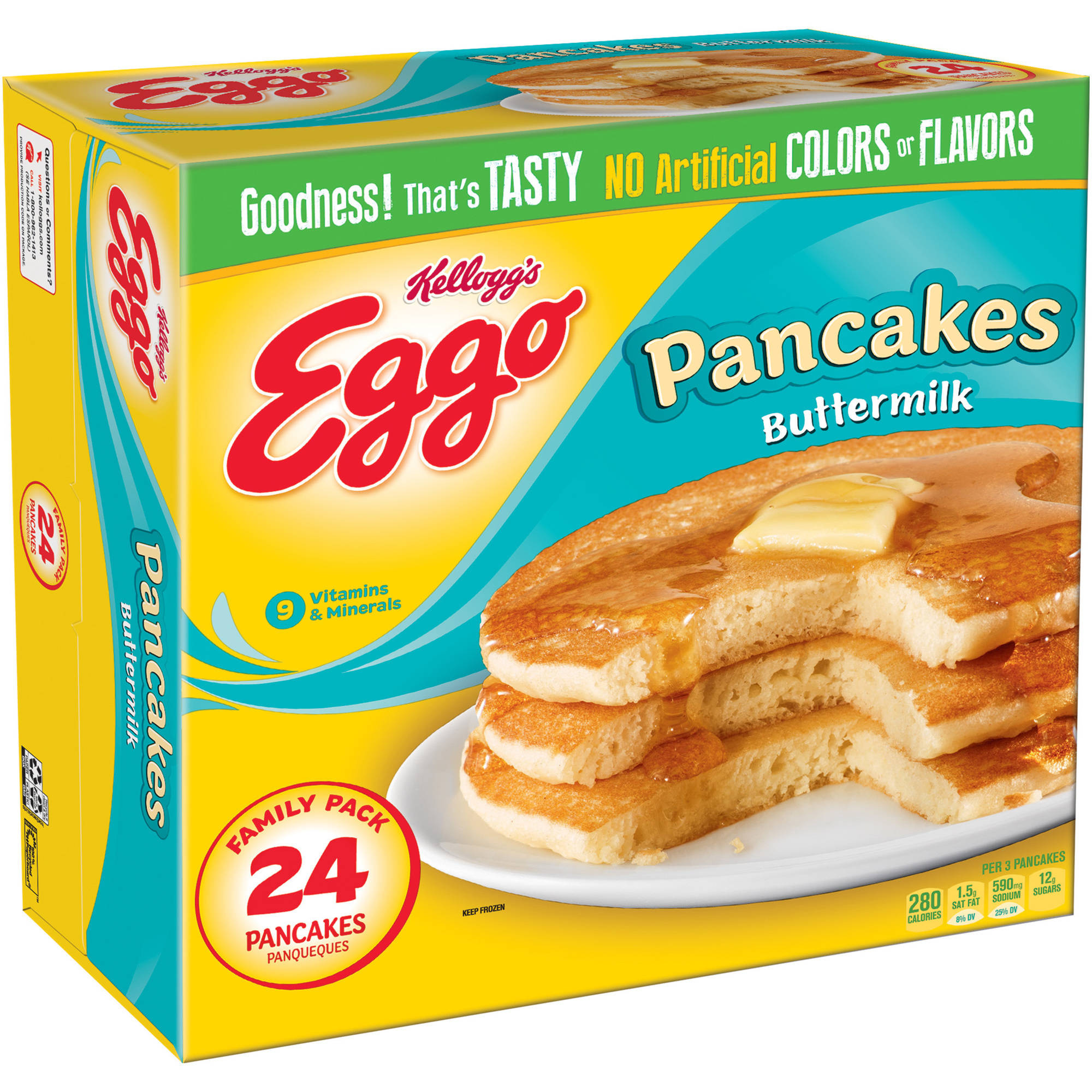 Kellogg's Eggo Buttermilk Pancakes, 24 count, 32.7 oz