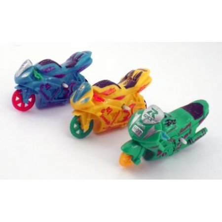 Friction Toy Motor cycle 3 Pc Setaprox 3 inches long By BOYS HAVE FUN TOYS