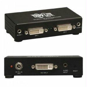 Tripp Lite 2-port Dvi Splitter With Audio And Signal Booster, Single Link 1920x1200 At 60hz
