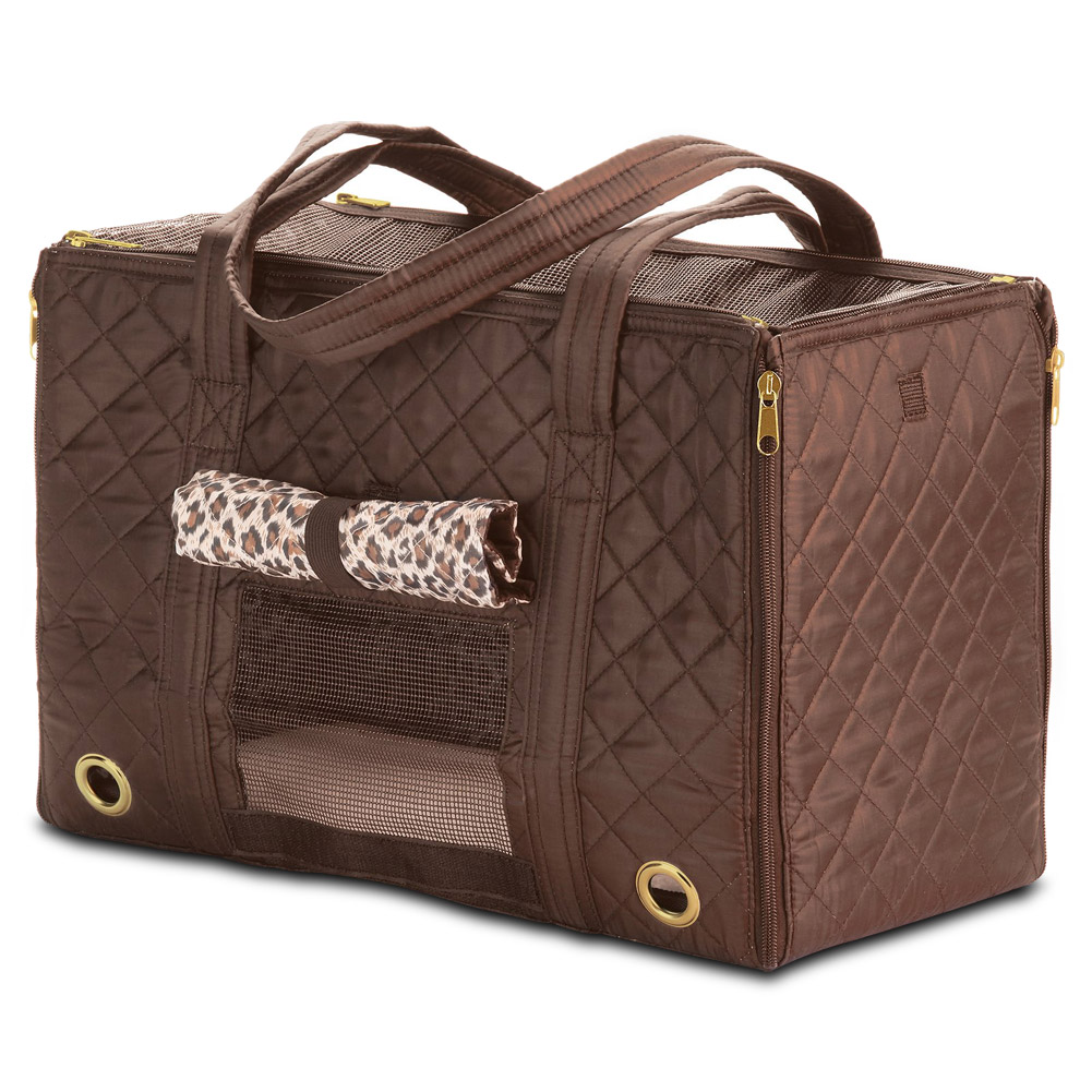 Sherpa Park Tote Pet Carrier, Small, Brown (55102)