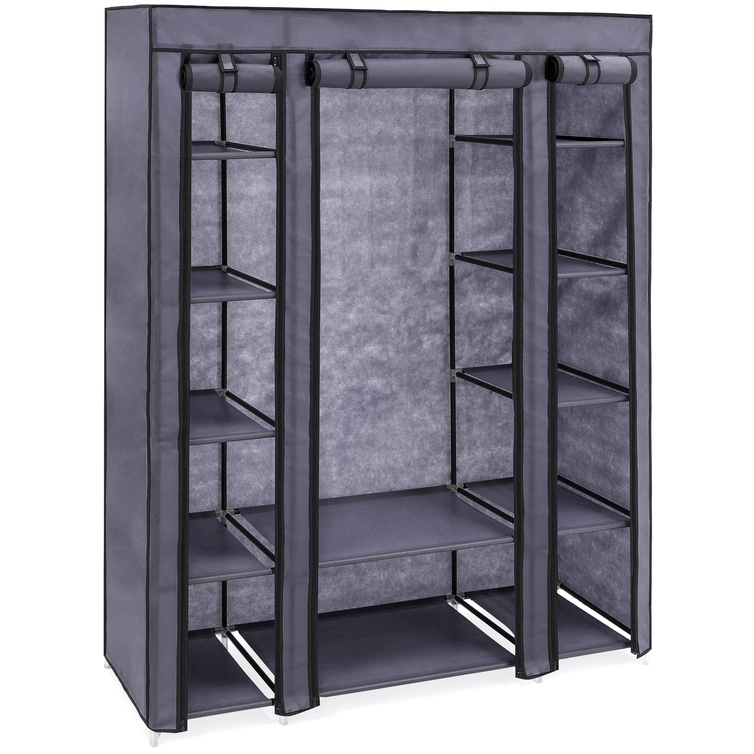 Best Choice Products 12 Shelf Portable Fabric Closet Wardrobe Storage  Organizer W/ Cover And