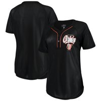 check out 068da fae65 Product Image Women s New Era Black Baltimore Orioles Henley Mesh Jersey  T-Shirt