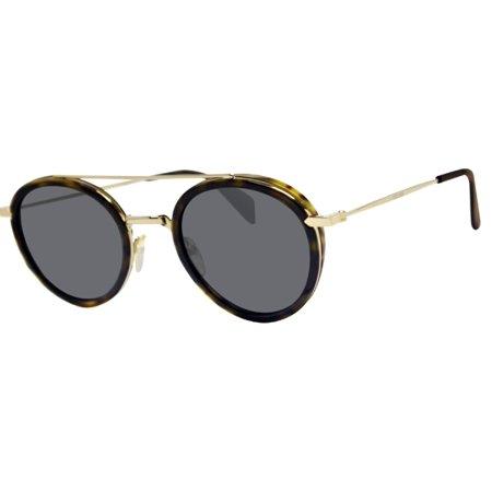 d2c5ccee55 CELINE - Celine 41424 S-ANT-IR havana frame gold arms gray blue 49mm lens  sunglasses new - Walmart.com