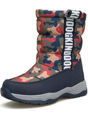 Snow Boots For Boys And Girls Zipper Waterproof And Lightweight(Little Kid/Big Kid)