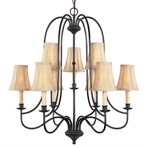 World Imports Metalcraft 9 Light Chandelier