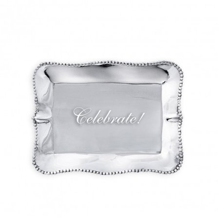 Beatriz Ball GIFTABLES PEARL RECT ENGRAVED TRAY Celebrate