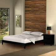 Murray Complete Wood Platform Bed with Bedding Support System and Box Design, Black Finish, Full