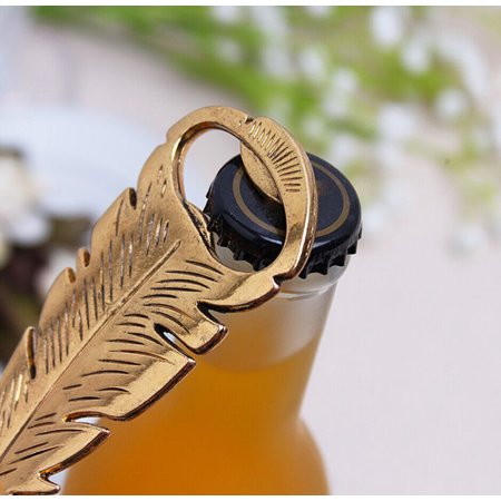 Retro Shapes - Retro Beer Bottle Opener Feather Shape Alloy Tool Bar Party Craft Gift