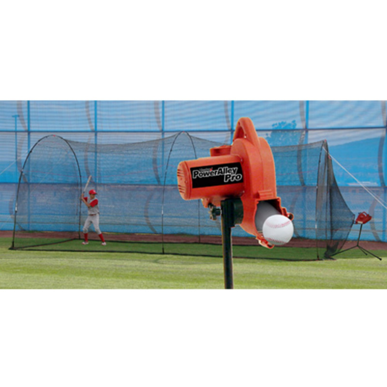 Heater Sports Power Alley PRO Pitching Machine & PowerAlley Batting Cage