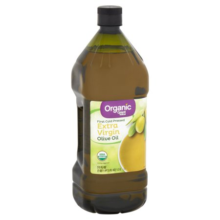 - Great Value Organic Extra Virgin Olive Oil, 51 fl oz