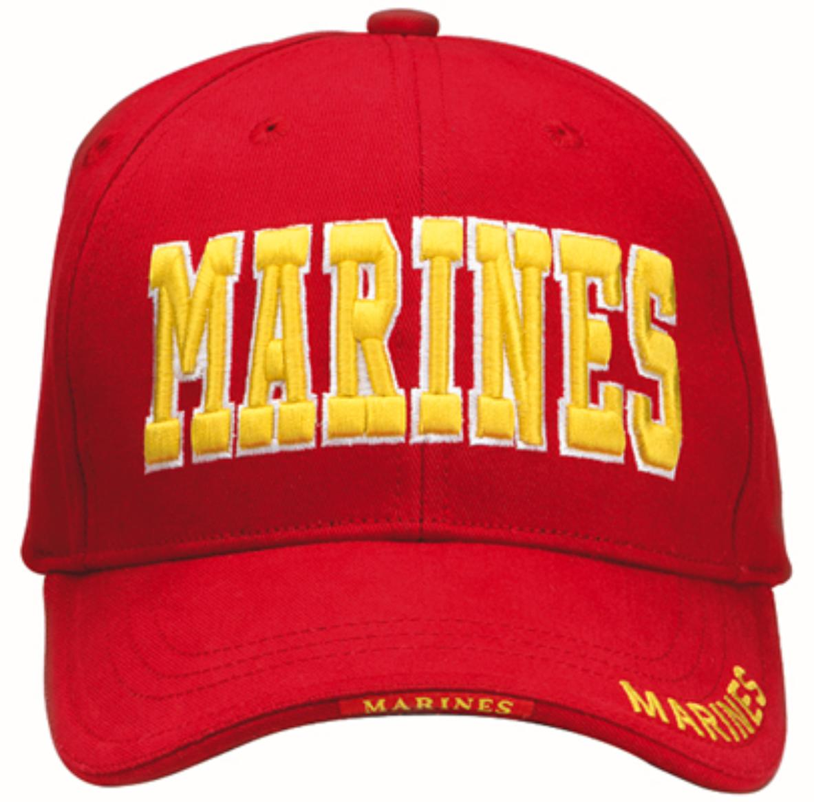 Deluxe Red Marines Baseball Cap
