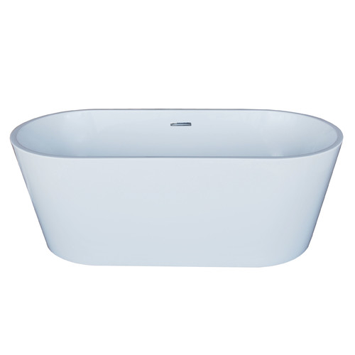 Spa Escapes Elsa 66.88'' x 31.5'' Oval Acrylic Freestanding Bathtub