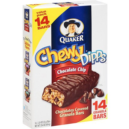 Quaker Chewy Dipps Chocolate Chip Granola Bars, 14 ct - Walmart.com
