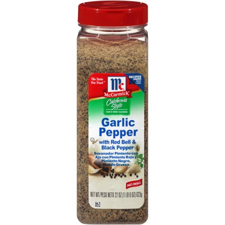Fire Red Pepper - McCormick California Style Garlic Pepper With Red Bell & Black Pepper Coarse Grind Blend, 22 oz