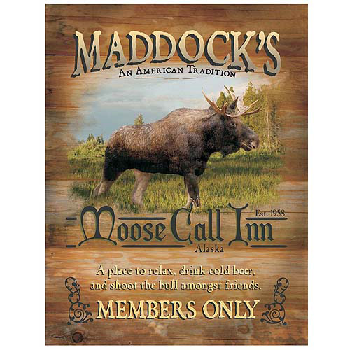 "Personalized Moose Call Inn Canvas Wall Decor, 11"" x 14"""