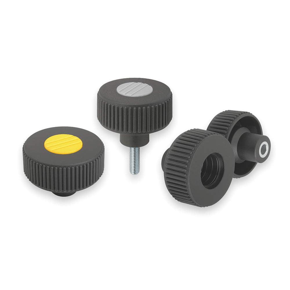 KIPP Knurled Wheel, M6, Ext, 0.78,2.04,1.57 K0260.5106X20