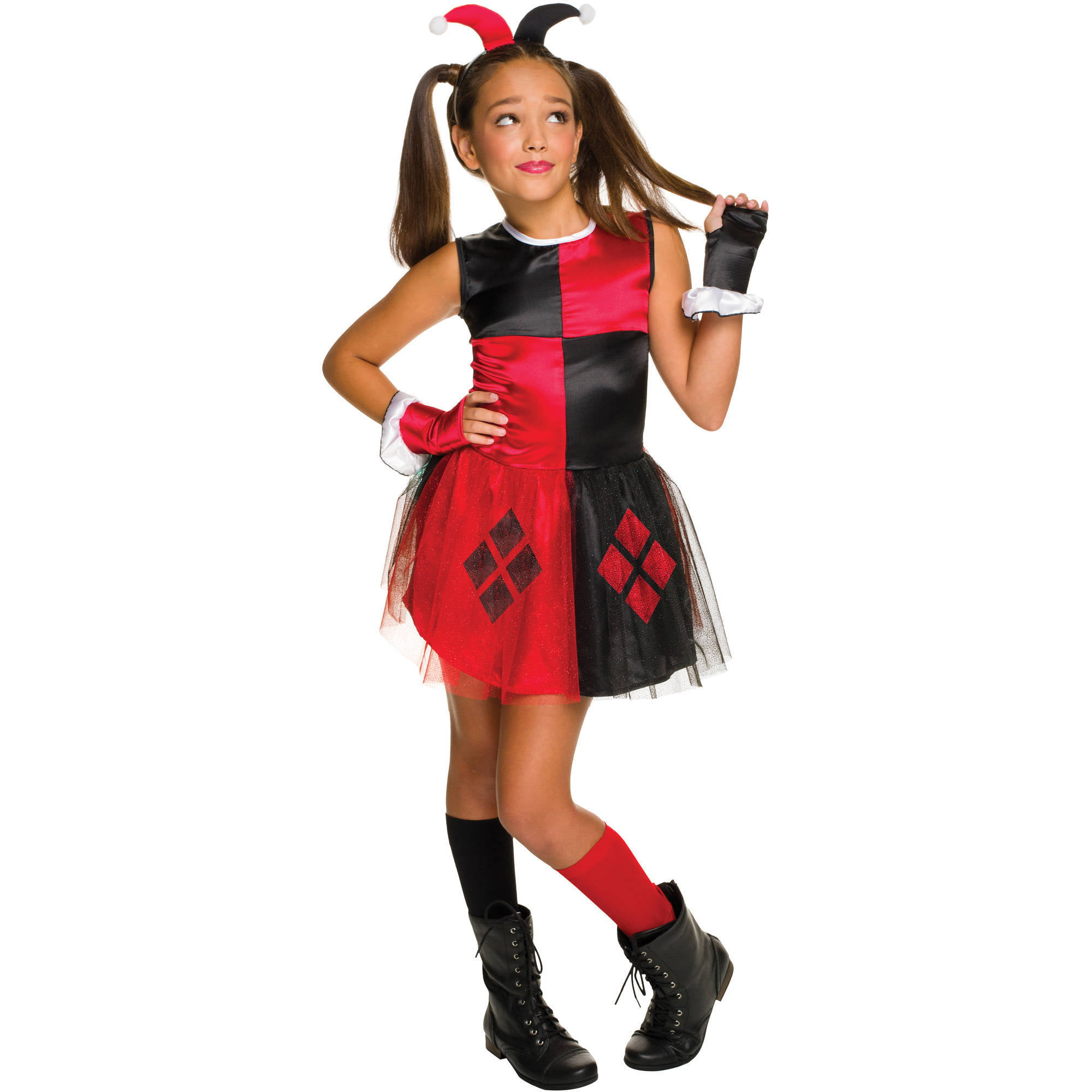 Harley Quinn Girls Tutu Dress Halloween Costume - Walmart com