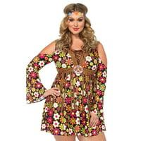 Leg Avenue Women's Plus Size Groovy Hippie 60s Costume