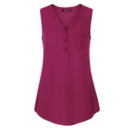 Plus Size Casual Tops for Women High Low Hem Blouse Summer Buttons Down T Shirts V-neck Tee Loose Sleeveless Vest S-XXXXXL