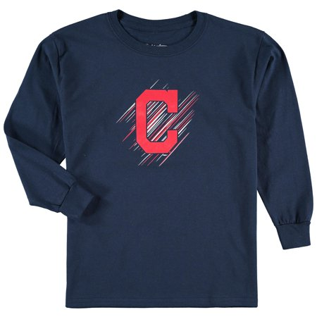 Cleveland Indians Logo Charm - Cleveland Indians Stitches Youth Team Logo Long Sleeve T-Shirt - Navy