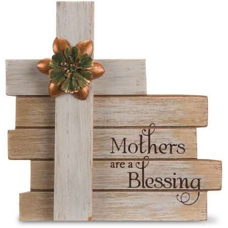 Pavilion - Mothers are a Blessing Cross Plaque 6 (Mother Teresa Plaque)