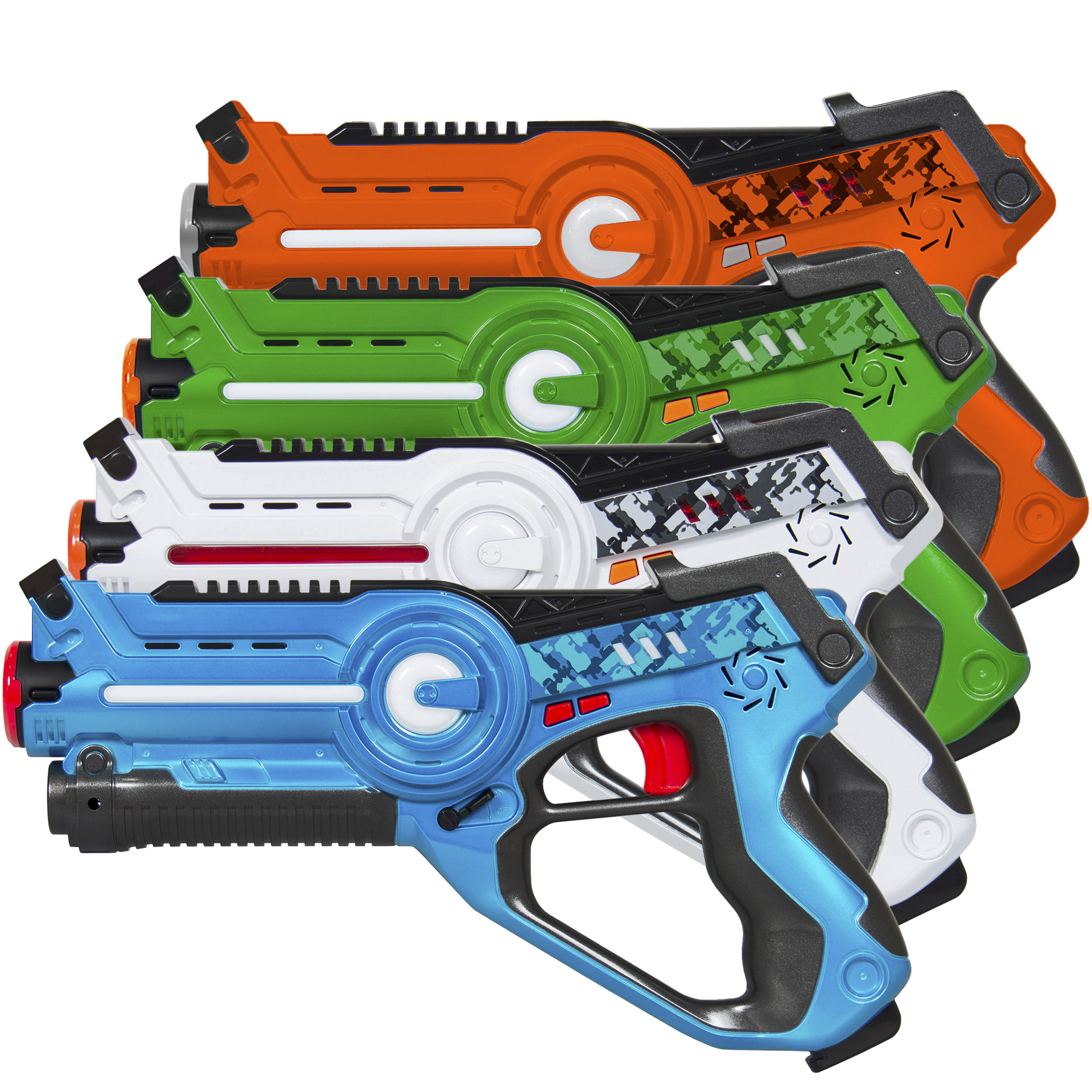 Best Choice Products Kids Laser Tag Set Toy Blasters w/ Multiplayer Mode, 4 Pack