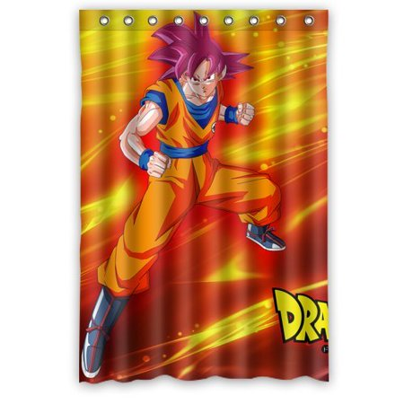 Deyou dragon ball z powerful goku shower curtain polyester for Dragon ball z bathroom