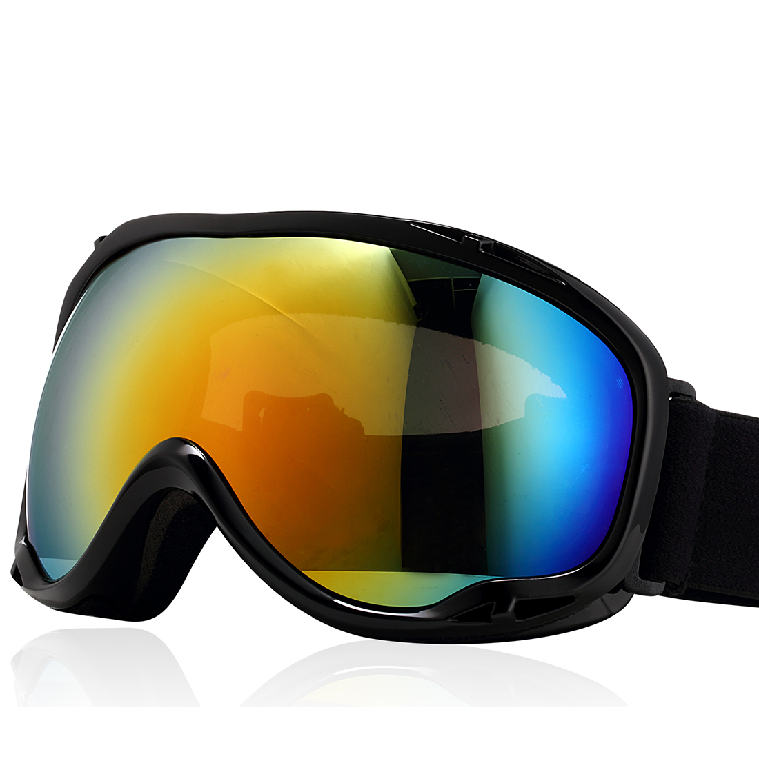 Uxcell Ski Snowboard Goggles UV400 Protect Anti-fog Glasses YH607 Black by