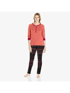 Jackie Henley Shirt and Joanna Sweater Fleece Jogger | Lounge Sleep Women's Printed Sweater Fleece Pajama Set