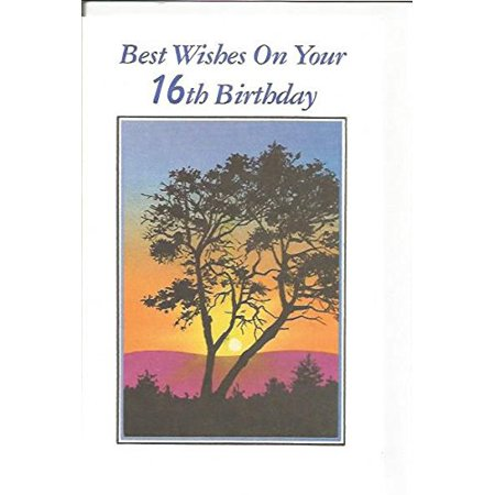 Best Wishes On Your 16th Birthday (age3), Cover: Best Wishes On Your 16th Birthday By Magic Moments Ship from