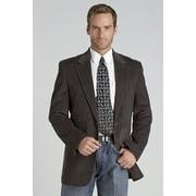 Circle S Mens Grey 100% Cotton Lubbock Corduroy Jacket Blazer 38 R